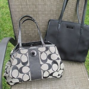 Authentic Lot of 2 Coach bags F19190  6206